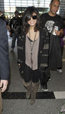 Actress Vanessa Hudgens at LAX airport. Royalty Free Stock Photography