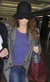 Actress Vanessa Paradis wife of Johnny Depp at LAX Stock Image