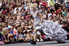 Actress wearing a crinoline. Royalty Free Stock Photo