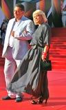Actress Yana Poplavskaya at Moscow Film Festival Stock Photos