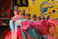 Actresses of the Beijing Opera Troupe. Perform the famous story Journey to the West at the Huguang Theater on November 16, 2010, in Beijing, China royalty free stock image
