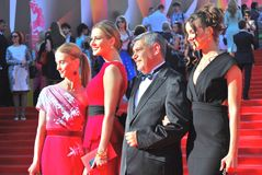 Actresses at Moscow Film Festival Royalty Free Stock Photography