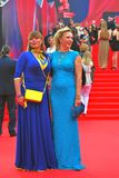 Actresses Natalia Gromushkina and Alla Dovlatova at Moscow Film Stock Image