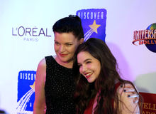 Actresses Pauley Perrette and Madison McLaughlin Stock Images