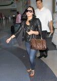 Actrice/chanteur Demi Lovato à l'aéroport de LAX. Photo stock