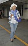 Actrice Dame Helen Mirren bij LOS. Royalty-vrije Stock Fotografie