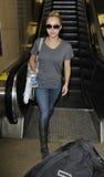 Actrice Hayden Panetierre à l'aéroport de LAX Images libres de droits