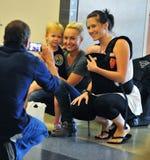Actrice Hayden Panettiere à l'aéroport de LAX Photographie stock libre de droits