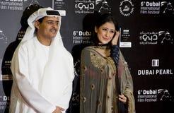 Actrice indienne Manisha Koiralla avec le Président de DIFF Image libre de droits