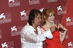 Actrice Jessica Chastain d'Al Pacino photo stock