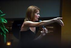 Actrice lauréate d'Emmy deux fois images stock