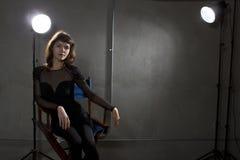 Actrice met Copyspace royalty-vrije stock foto's