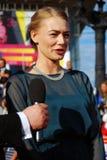 Actrice Oksana Akinshina bij de Filmfestival van Moskou Royalty-vrije Stock Afbeeldingen
