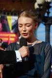 Actrice Oksana Akinshina bij de Filmfestival van Moskou Royalty-vrije Stock Fotografie