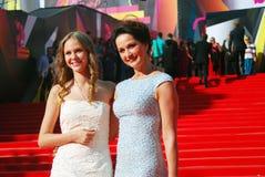 Actrice Olga Kabo au festival de film de Moscou Photographie stock libre de droits