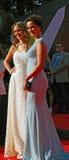 Actrice Olga Kabo bij de Filmfestival van Moskou Stock Fotografie