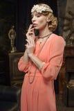 Actrice op de scène Royalty-vrije Stock Foto's