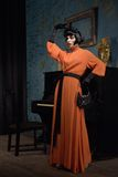 Actrice op de scène Royalty-vrije Stock Foto
