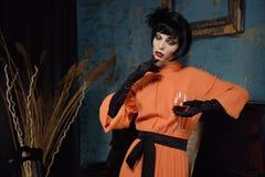 Actrice op de scène Stock Foto