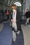 Actrice Sigourney Weaver chez LAX images libres de droits