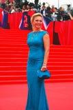 Actriz Alla Dovlatova en el festival de cine de Moscú Fotografía de archivo libre de regalías