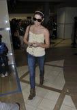 Actriz Ashley Greene en LAX Fotos de archivo