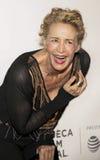 Actriz británica celebrada Janet McTeer en la premier 2017 de película de Tribeca del ` el ` de la excepción Imagen de archivo libre de regalías
