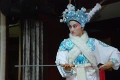 Actriz da ópera de Sichuan Fotografia de Stock