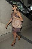 Actriz Eva Mendes em RELAXADO Imagens de Stock Royalty Free