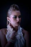 Actriz joven hermosa de la vendimia Imagen de archivo libre de regalías