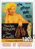 Actriz Marilyn Monroe e Tom Ewell fotografia de stock royalty free