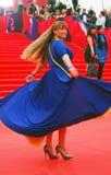 Actriz Natalia Gromushkina en el festival de cine de Moscú Foto de archivo libre de regalías