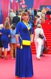 Actriz Natalia Gromushkina en el festival de cine de Moscú Imágenes de archivo libres de regalías