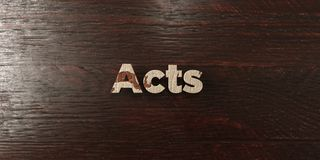 Acts - grungy wooden headline on Maple  - 3D rendered royalty free stock image Royalty Free Stock Photo