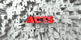 ACTS -  Red text on typography background - 3D rendered royalty free stock image Royalty Free Stock Photos