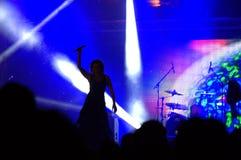 Actuación en directo en el cuadrado Imagenes de archivo