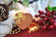 Actual caja en fondo del concepto de la Navidad Imagen de archivo