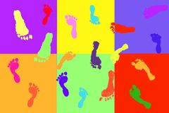 Actual children's footprints Royalty Free Stock Images