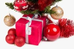 Actual decoración de la caja y de la Navidad Fotografía de archivo libre de regalías