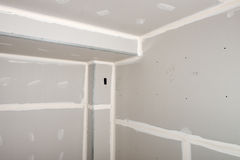 Home Improvement, House Remodel, Drywall Install Stock Image
