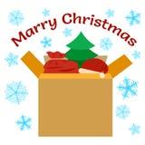 Actual ejemplo del vector de las cajas de regalo Foto de archivo
