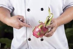 Actual fruta del dragón del cocinero Fotos de archivo libres de regalías