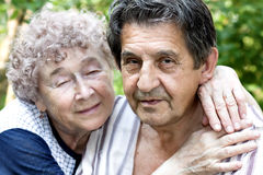 Actual gladness of elderly people royalty free stock photography