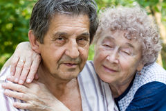 Actual gladness of elderly people Royalty Free Stock Photo