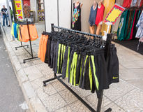 The actual goods of shops in Sunny Beach in Bulgaria. Bulgaria - a favorite vacation spot of tourists from all over the world Royalty Free Stock Photography