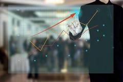 Actual gráfico del hombre de negocios del negocio Fotos de archivo libres de regalías