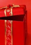 Actual rectángulo rojo de Navidad foto de archivo