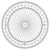 Actual Size Graduation. Image of Protractor - Actual Size Graduation  on white Royalty Free Stock Photography