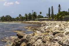 The actual Southernmost point on Key West. In Florida Stock Photography