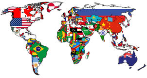 Actual world map Stock Images
